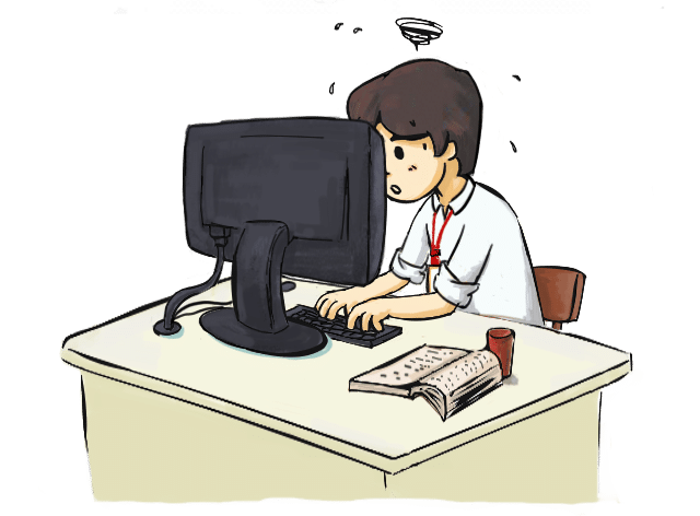 person at a computer raising against time case management foreign service officer oral assessment